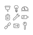 Technical tools set icons vector image