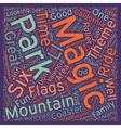 The Magic Of Magic Mountain text background vector image vector image