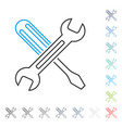 tuning line icon vector image vector image