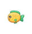 underwater animal - small cute yellow fish kawaii vector image vector image