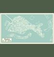 venice italy city map in retro style vector image