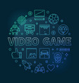 video game round colored concept outline vector image