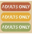 Vintage ADULTS ONLY stamp set vector image