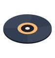 Vinyl record isometric 3d icon vector image vector image