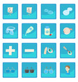 Vision correction icon blue app vector image