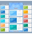 Wall calendar 2016 years design template vector image vector image