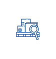 warehouse line icon concept warehouse flat vector image vector image