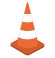 white orange traffic cone 3d sign cone vector image