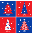 winter christmas trees vector image vector image