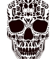 Ornamental scull as abstract floral vector image