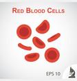 red blood cells flat design vector image