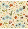 A beautiful seamless floral pattern vector image