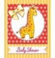 giraffe baby cartoon vector image