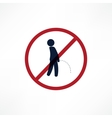 No peeing symbol vector image