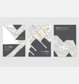 abstract brochure cards set outline art vector image