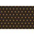 art deco monochrome gold seamless wallpaper vector image