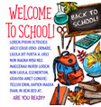 back to school stationery sketch poster vector image vector image