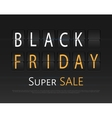 Black friday sale analog flip clock design vector image