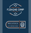 camping logos templates design elements vector image