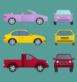 car auto vehicle transport type design travel race vector image vector image