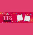 christmas sale banner with image space vector image vector image