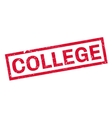 College rubber stamp vector image vector image