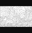 coloring book landscape vector image