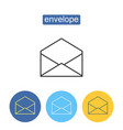 commercial mailing outline icons set vector image vector image