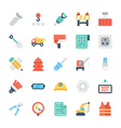 Construction Colored Icons 3 vector image vector image