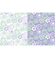 cute baby style floral pattern in violet color vector image