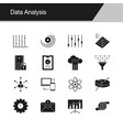 data analysis icons design for presentation vector image vector image