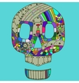 Decorative Skull Head in vector image vector image