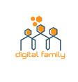 digital family design template vector image