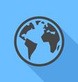 Earth icon vector image vector image