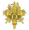 emblem of france vector image vector image