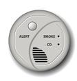 Fire smoke carbon monoxide detector alarm vector image