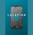 flat gps navigation on phone vector image vector image