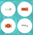 Flat icon sanitary set of drain corrugated pipe vector image