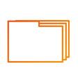 folder file document paper web icon vector image vector image