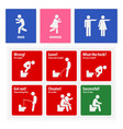 funny toilet signs creative signboards a set of vector image vector image