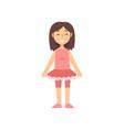 girl dancer character in pink dress kid dreaming vector image vector image