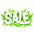Green Nature Sale Announcement vector image vector image