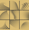 halftone dots effect background set vector image vector image