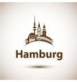 Hamburg Skyline abstract vector image