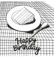 happy birthday black and white vector image
