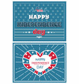 happy independence day poster greeting card design vector image vector image