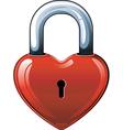 heart lock vector image vector image