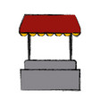 hot dog stand vector image