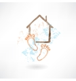 housewarming grunge icon vector image vector image