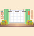 image living room at home cozy home interior vector image vector image